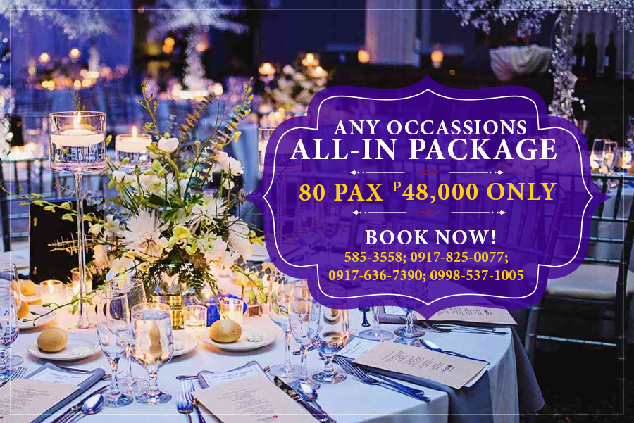 www.rooms498.com/ www.supplier.ph ALL IN PACKAGES! FOR ONLY P 48K For 80 pax.