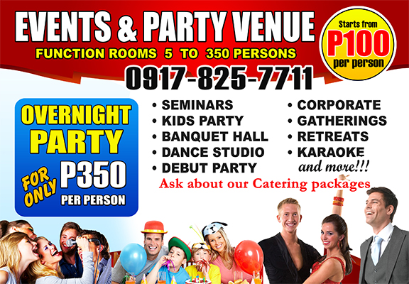 events and party venue SEMINARS KIDS PARTY DEBUT PARTY VENUE 0917-825-7711