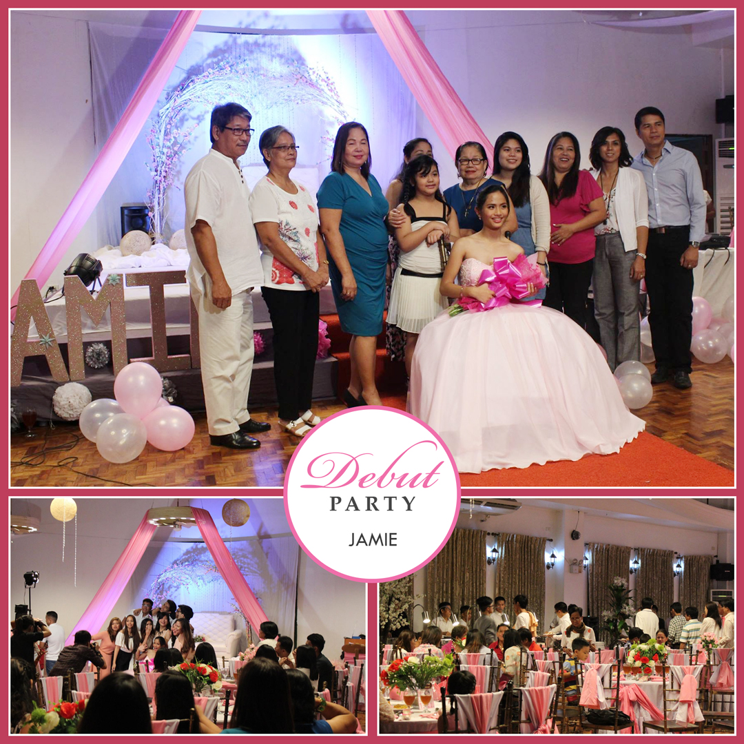 DEBUT PARTY EVENTS VENUE GRANDEUR HALL PINK MOTIF THEME www.rooms498.com