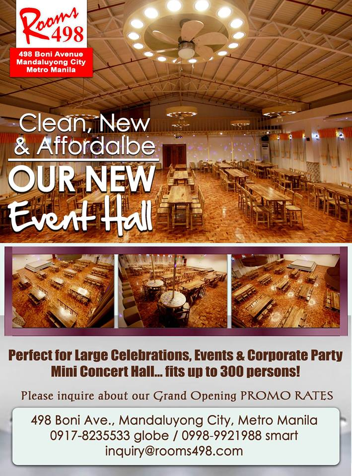 CONCERT HALL - AFFORDABLE EVENTS HALL WWW.ROOMS498.COM