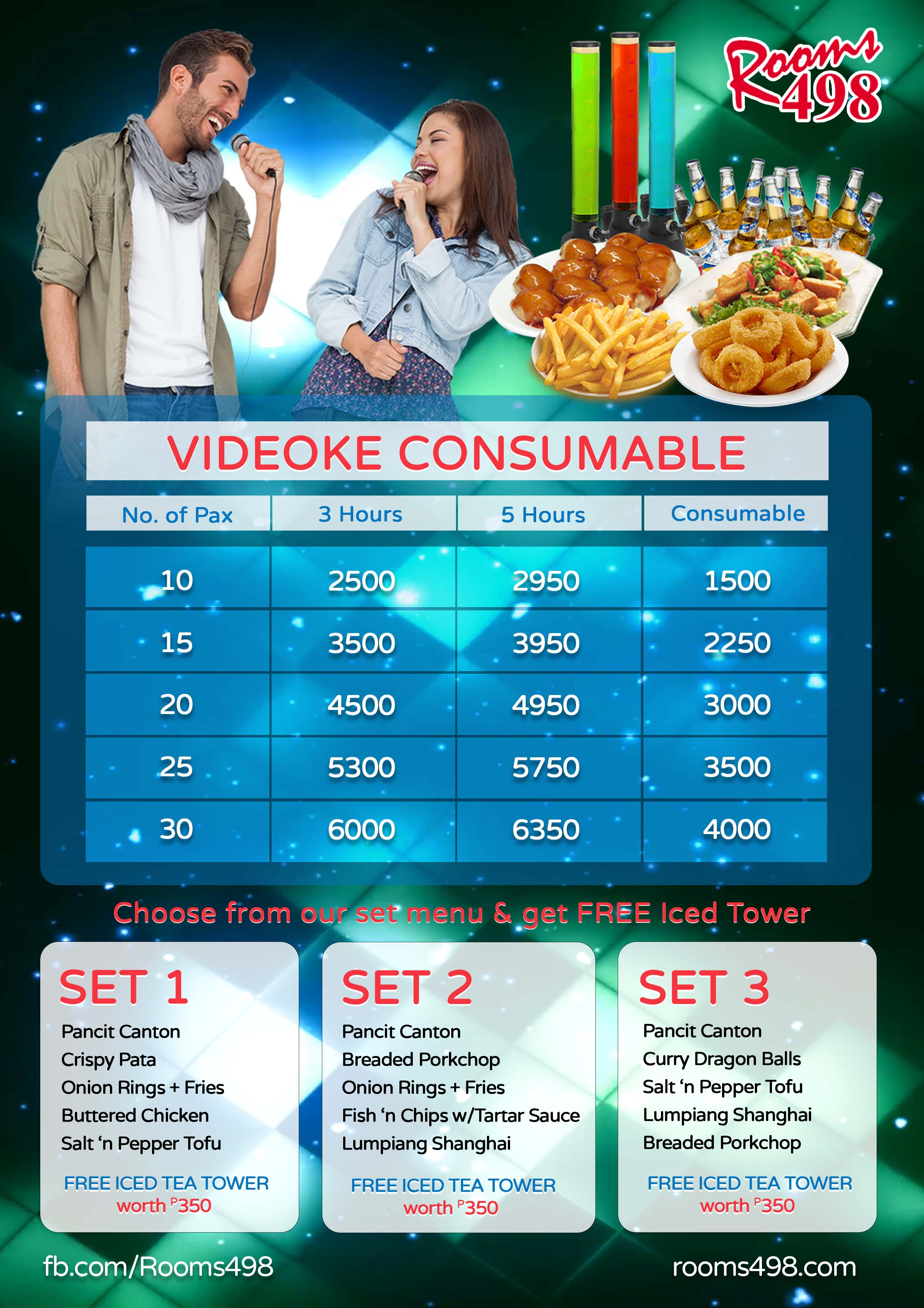 Rooms498 Videoke Consumables