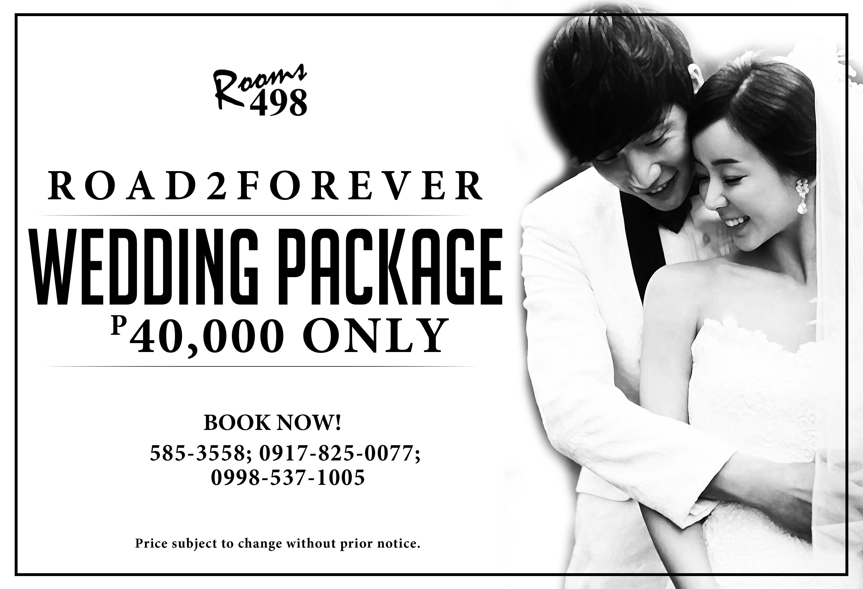 www.rooms498.com Affordable all in Wedding Package.
