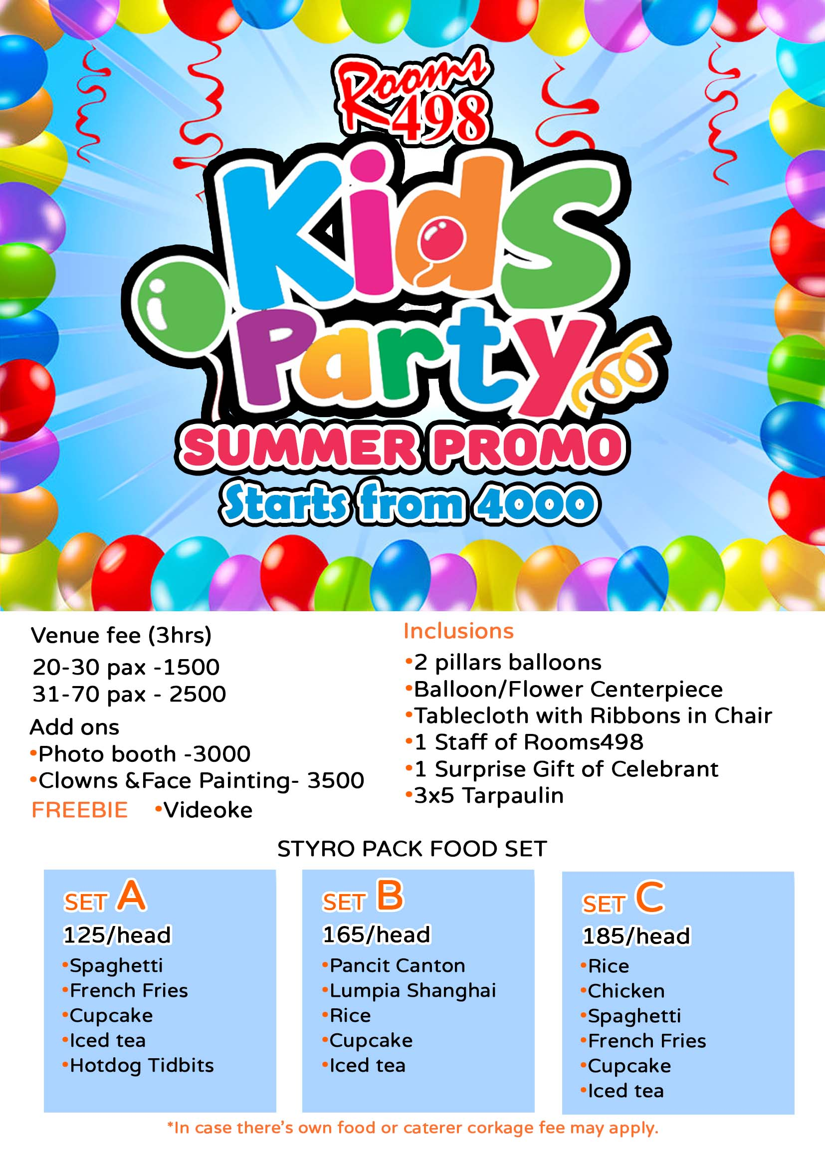 Super Affordable Kids Party Package, Children's Party, Princess themed Party, Barney themed party, Spider man themed Party, Cars themed Party, party supplies, Party Packages, Kids party Entertainment, clowns, magician Face painting.