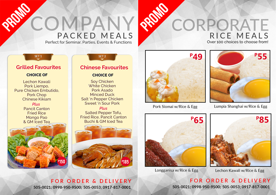 Affordable company packed meal .starts from P 49 Pesos only