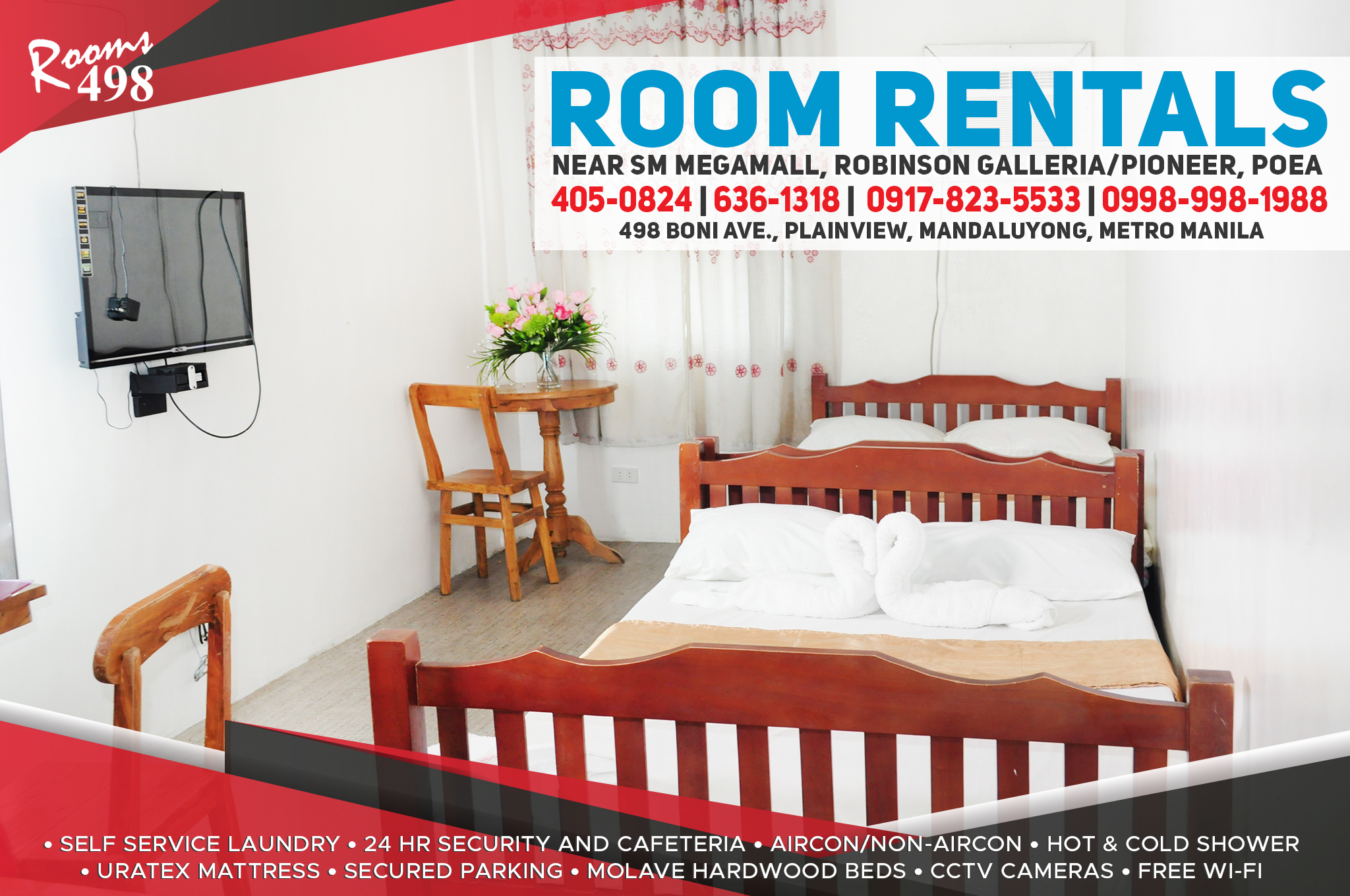Bedspace. Apartment, Apartelle, Room Rentals, Daily and Monthly, Accomodation,Accessible place in the Metro, Room for rent. 24/7 security with own cafetria and self-service laundry.