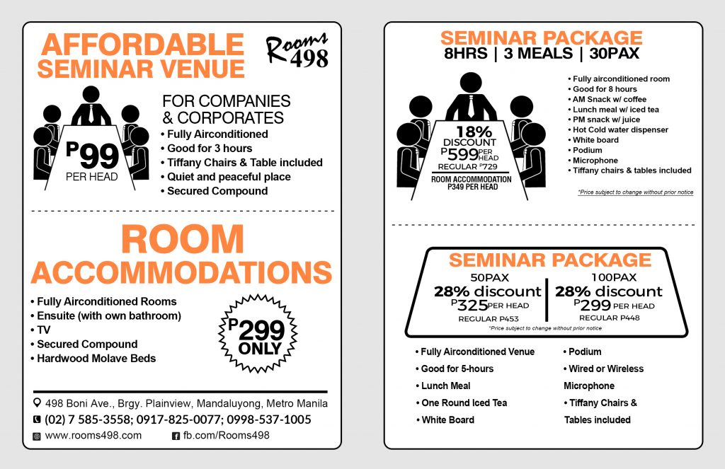 Affordable seminar packages rooms498.com