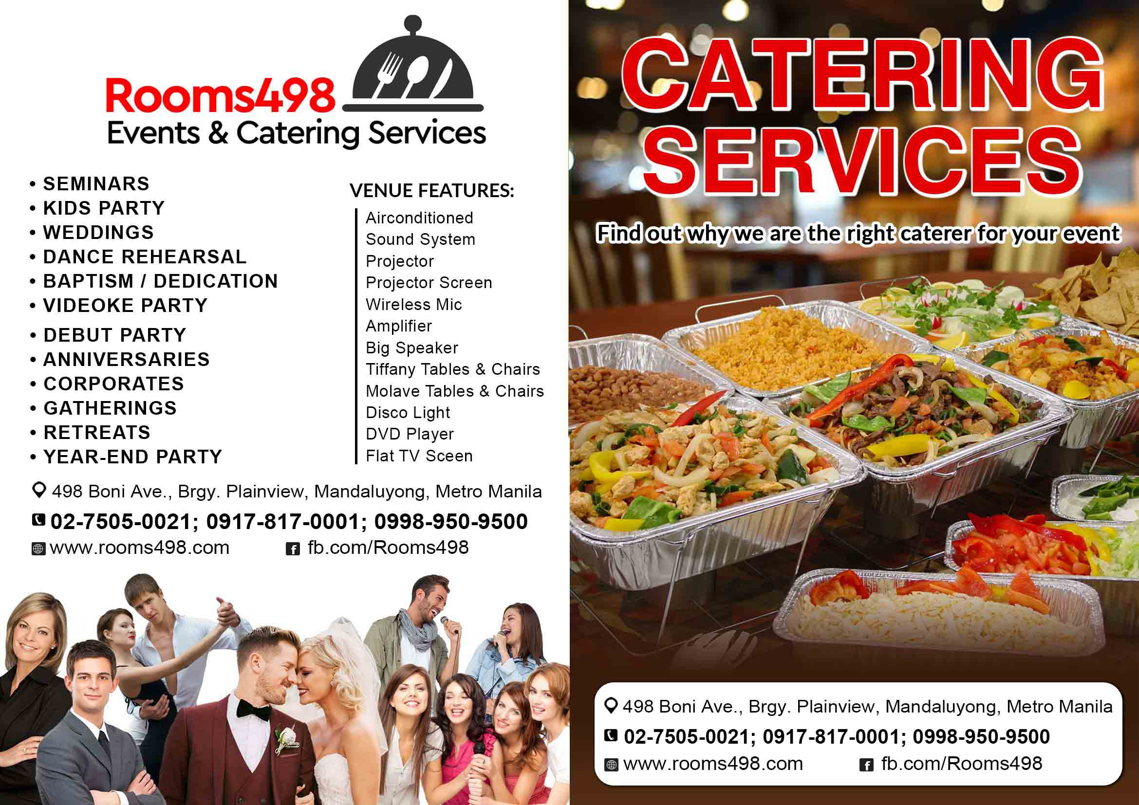 Catering Services rooms498.com
