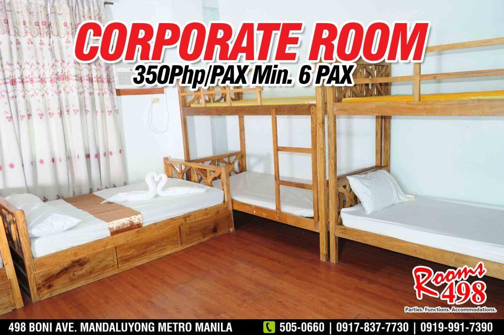 Affordable Corporate room in Metro Manila