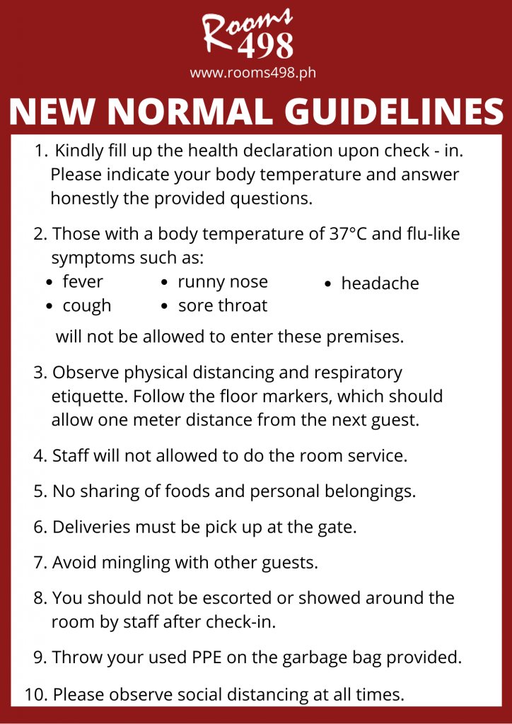 Guidelines - Rooms498