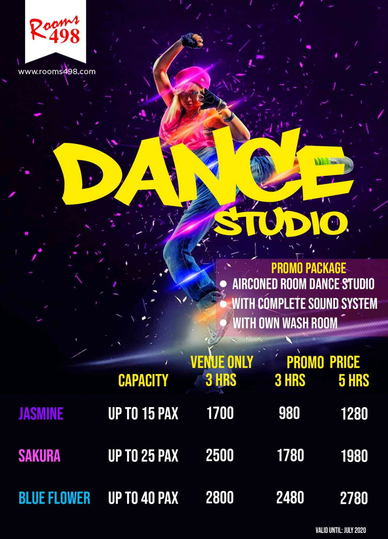 Affordable Dance Studio in the Metro rooms498.com